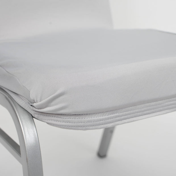 Lycra Chair Covers (Toppers) - Silver Seat