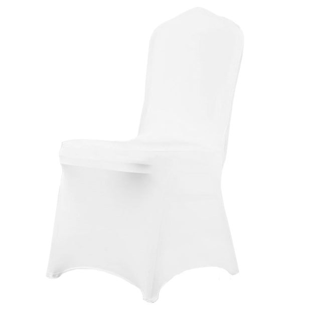 White Lycra Chair Covers (170gsm EasySlip)