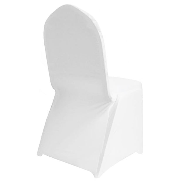 White Lycra Chair Covers (170gsm EasySlip) Back