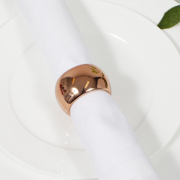 Bronze Napkin Ring - Classic Luxe Style Close Up