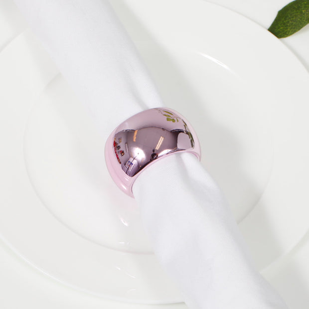 Light Pink Napkin Ring - Classic Luxe Style Close Up