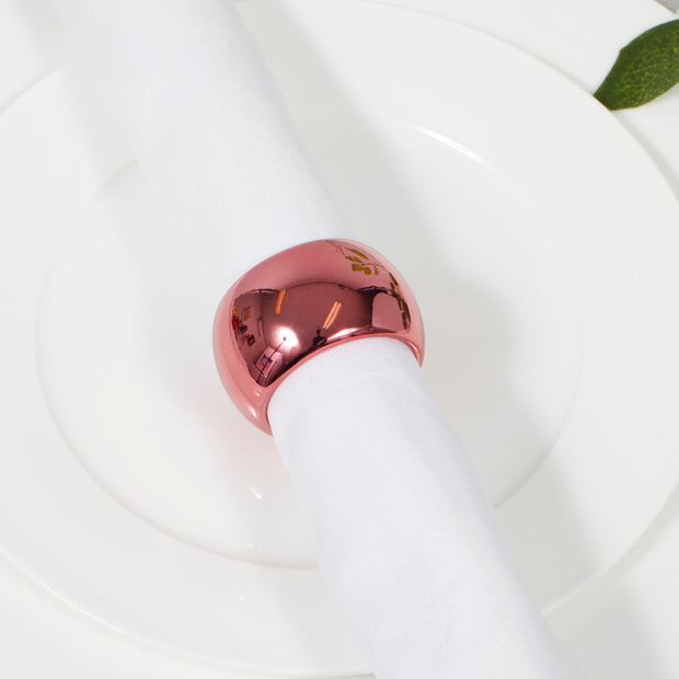 Rose Gold Napkin Ring - Classic Luxe Style Close Up