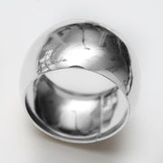 Silver Napkin Ring - Classic Luxe Style Close Up