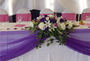 Organza Fabric Roll - Purple. In Setting