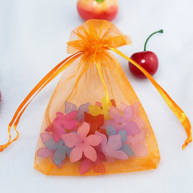 Organza Bags - Orange (10x15cm)
