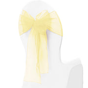 Organza Chair Sashes - Pale Yellow