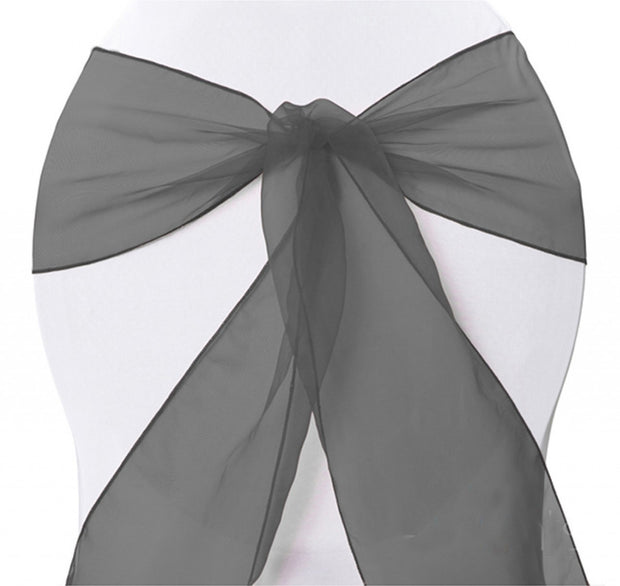 Organza Chair Sashes - Black