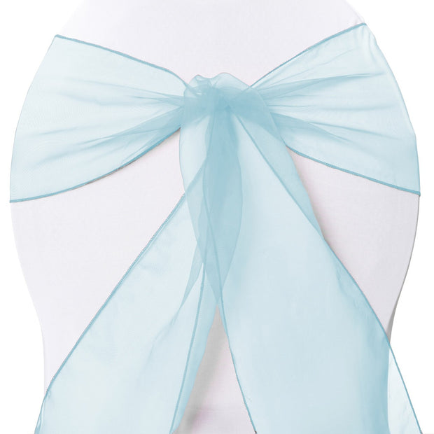 Organza Chair Sashes - Light Blue