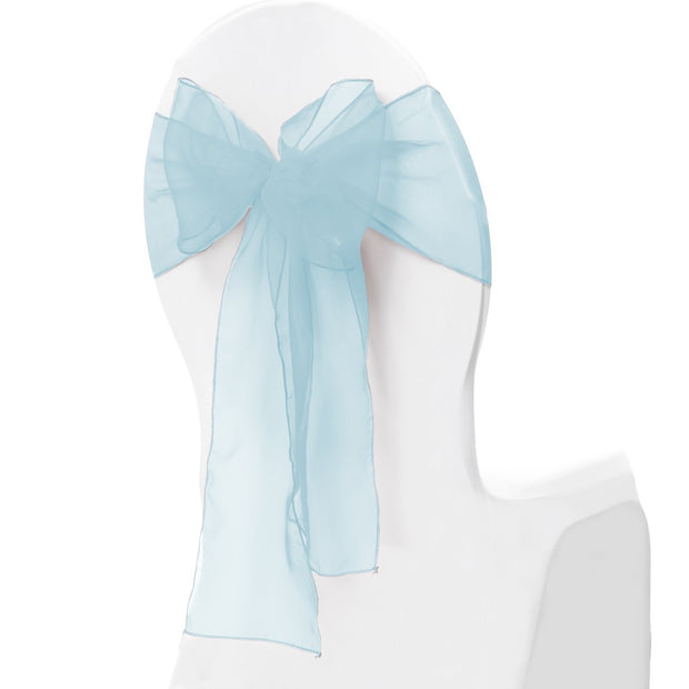 Organza Chair Sash oblique view - Light Blue