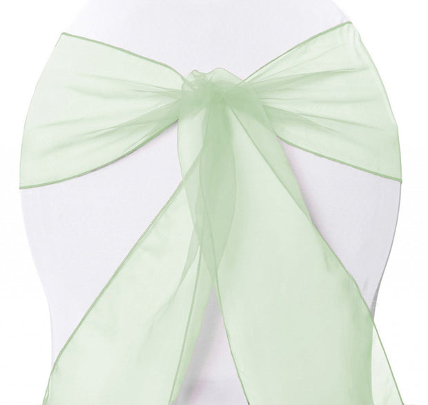 Organza Chair Sashes - Mint