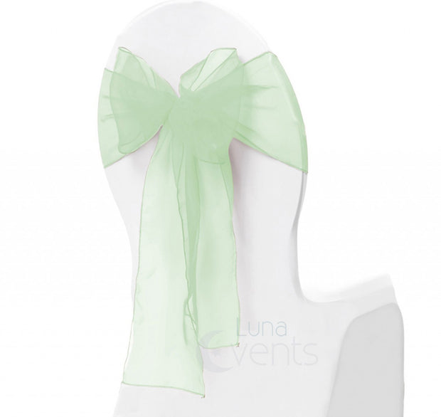 Organza Chair Sash oblique view - Mint