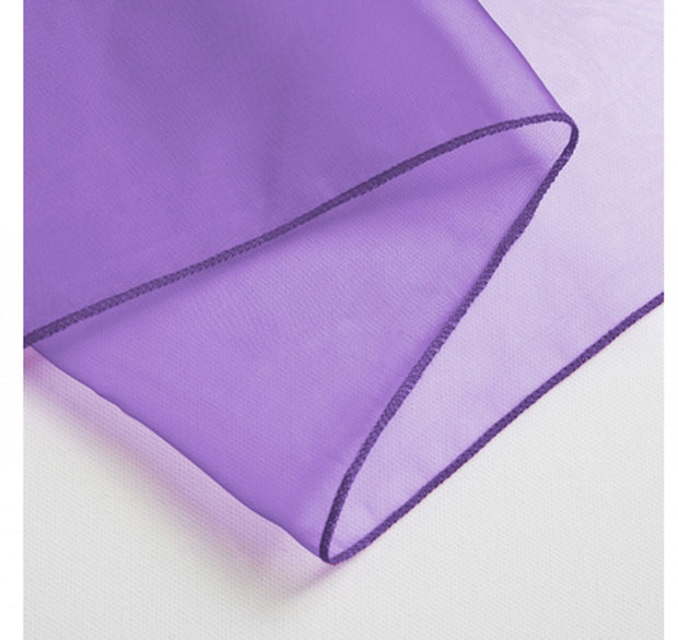 Organza Chair Sashes detail - Purple