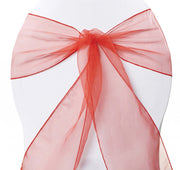 Organza Chair Sashes - Red
