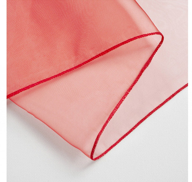 Organza Chair Sashes detail - Red