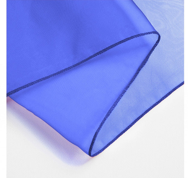 Organza Chair Sashes detail - Royal Blue