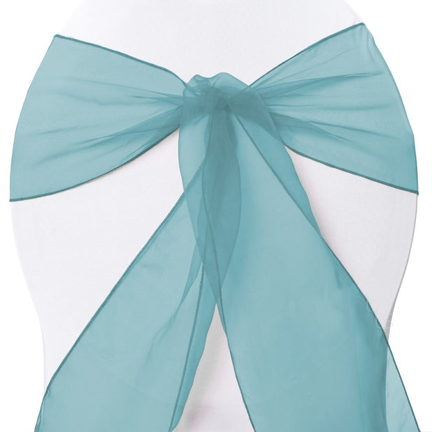Organza Chair Sashes - Teal