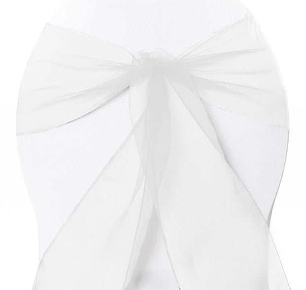 Organza Chair Sashes - White