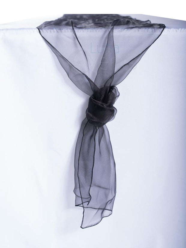 Organza Table Runners - Black