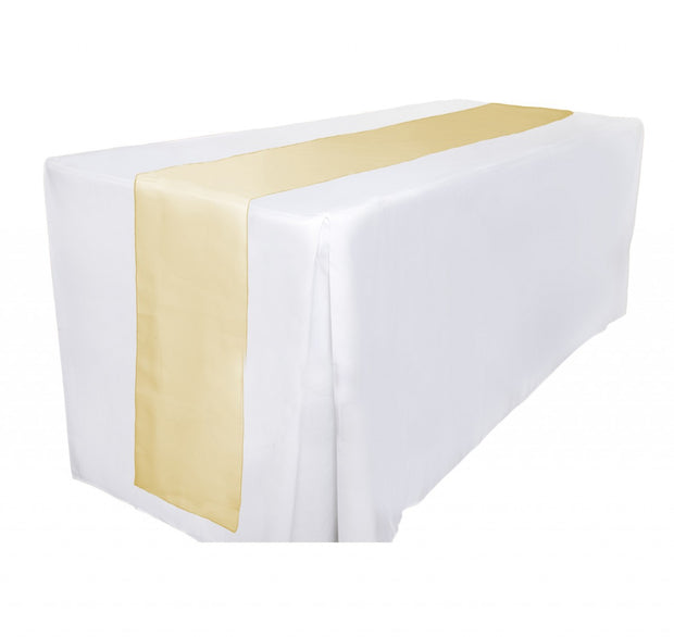 Organza Table Runners - Gold Table View