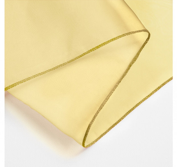 Organza Table Runners - Gold Overlocked Edge