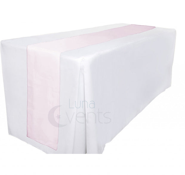Organza Table Runners - Light Pink Table View