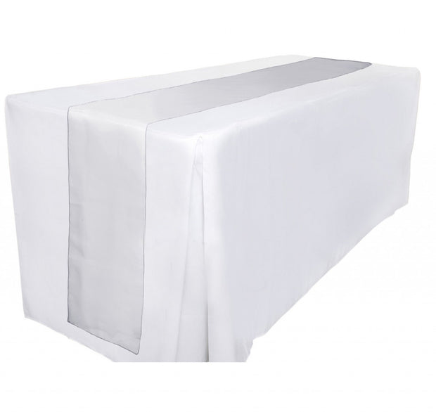 Organza Table Runners - Silver