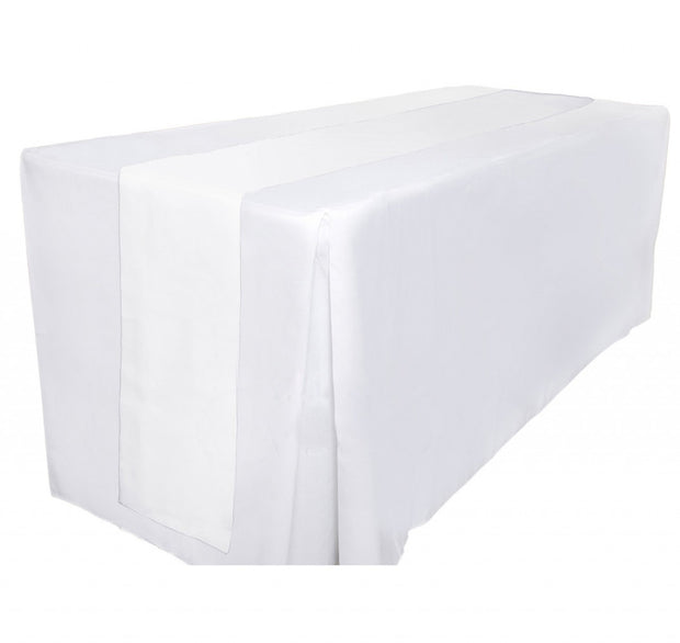 Organza Table Runners - White Table View