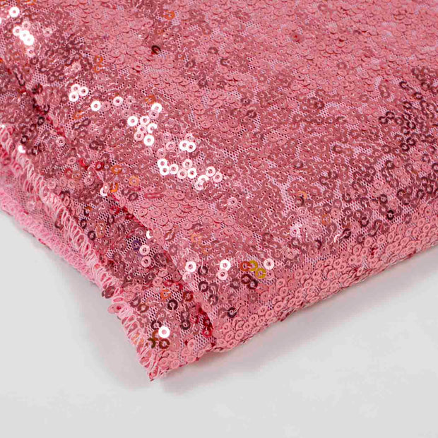 Light Pink Sequin Tablecloth 125x240cm Close