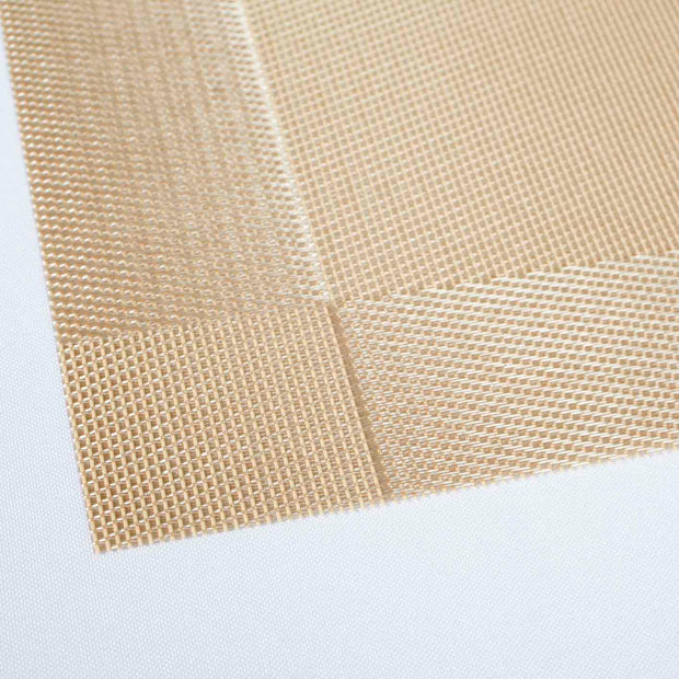 Gold Woven placemat detail
