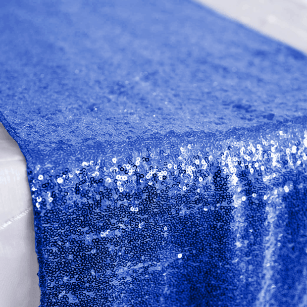 Sequin Table Runner - Royal Blue Close Up