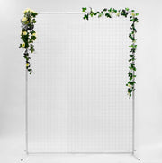 Wedding Flower Wall Mesh Frame - White (2x1.5m) With decoration