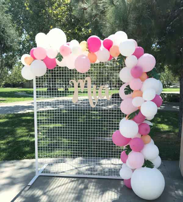 Wedding Flower Wall Mesh Frame - Square Edge - WHITE (2mx1.5m)