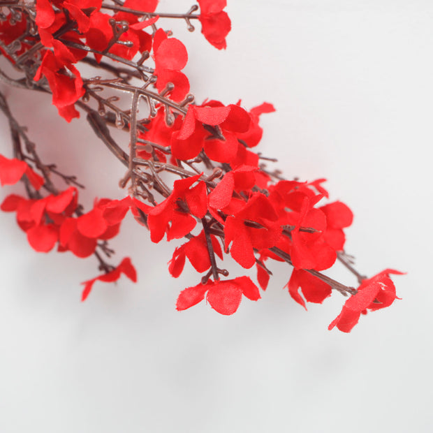 silk cherry blossoms for weddings in red