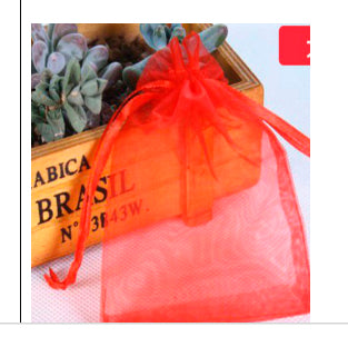 Organza Bags - Red (10x15cm)