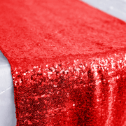 Sequin Table Runner - Red Close Up