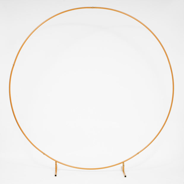 Round Wedding Arch / Flower Frame - Gold (2m)