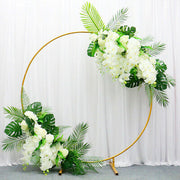 Round Wedding Arch / Flower Frame - Gold (2m) With decoration B