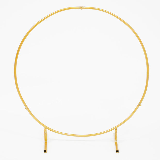 Round Wedding Arch / Flower Frame - Gold (1m)