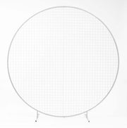 Round Wedding Flower Mesh Frame - White (2m)