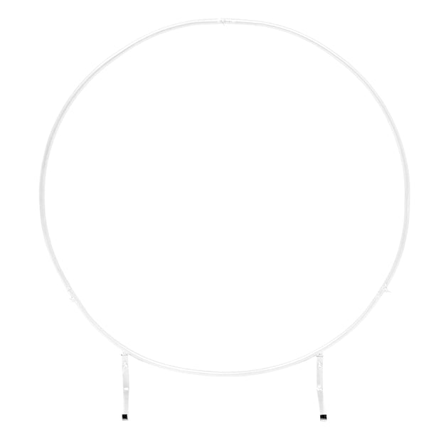 Round Wedding Arch / Flower Frame - White (1m)
