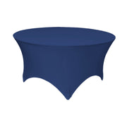 Navy Round Lycra Fitted Tablecloth (6ft)