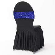Sequin Lycra Chair Bands - Royal Blue Full Image
