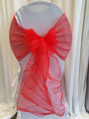Organza Table Runners / Extra Wide Sash - Red