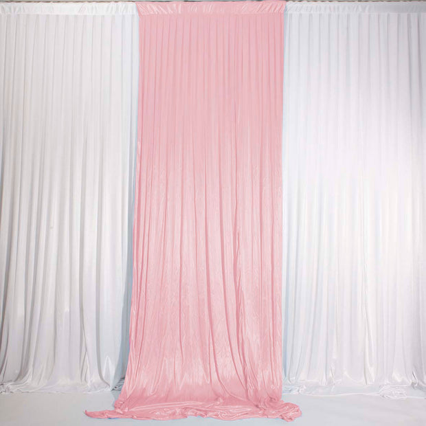 Blush Ice Silk Satin Backdrop Convertible Panels 1mx3m Single open