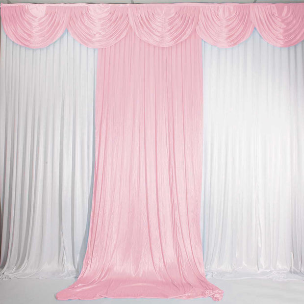 Blush Ice Silk Satin Backdrop Convertible Panels 1mx3m With Swag