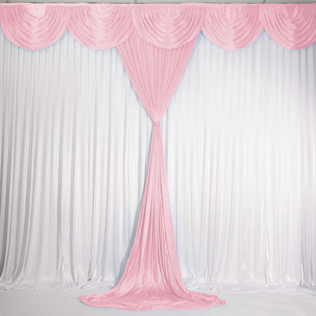 Blush Ice Silk Satin Backdrop Convertible Panels 1mx3m