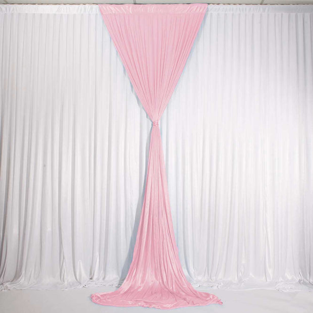 Blush Ice Silk Satin Backdrop Convertible Panels 1mx3m Tied