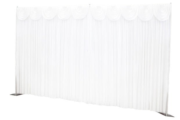 White Ice Silk Satin Backdrops - 6 meters length x 3 meters high