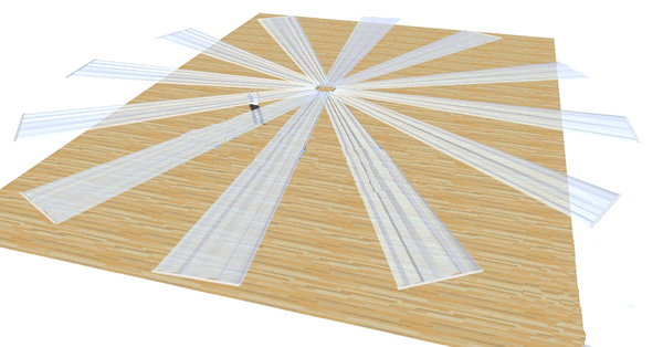 Ceiling Drape Ice Silk - White - 10m Scale Layout