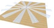 Ceiling Drape Ice Silk - Gold - 10m - Scale Layout